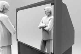 TV que vira espelho e armário que vira TV