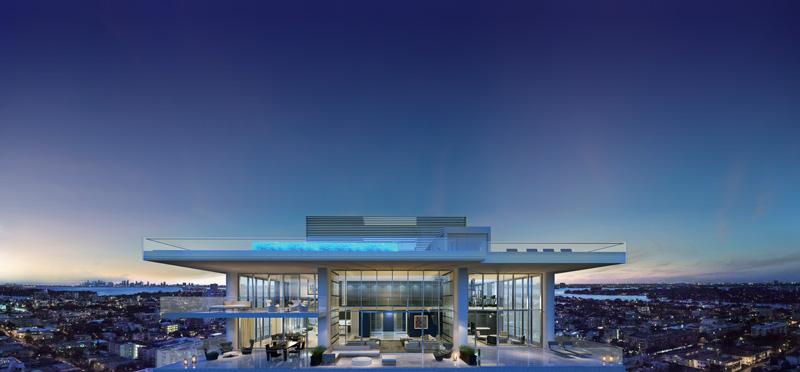 Apartamento de vidro em Miami a US$ 10 milhões
