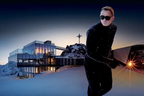 Vidro e neve como cenário para o agente 007